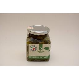 broccoli friarielli con piccante in olio extra vergine d'oliva